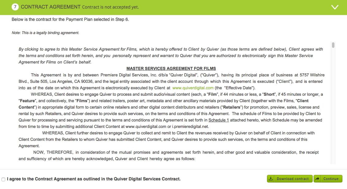 Step 7 Contract Agreement Help Center